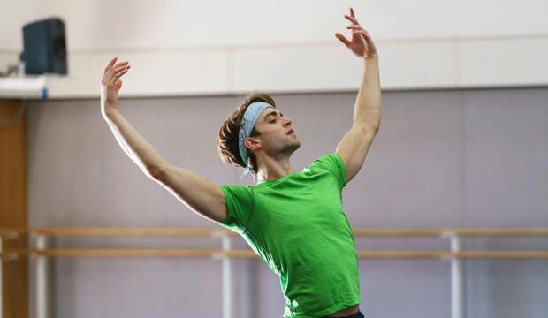 Matthew Ball in rehearsal © ROH 2018. Photo: Bill Cooper