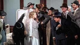 Amelia (Anne Sophie Duprels) comes under scrutiny in Un Ballo in Maschera. Photo: Ali Wright