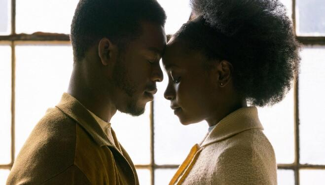 Stephan James and KiKi Layne in If Beale Street Could Talk