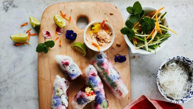 Recipe: summer rolls with kimchi mayonnaise