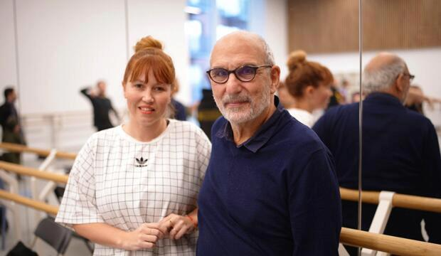 Kate Prince and Alan Yentob, BBC Studios. Photo: Jim Ashcroft