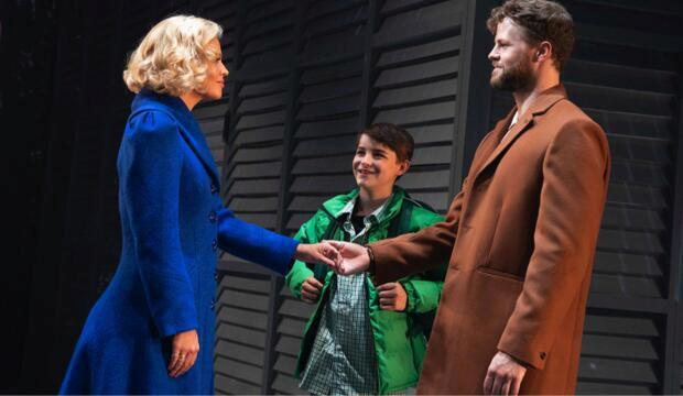 Kimberley Walsh (Annie), Jobe Hart (Jonah), Jay McGuiness (Sam) in Sleepless. Photo: Alastair Muir