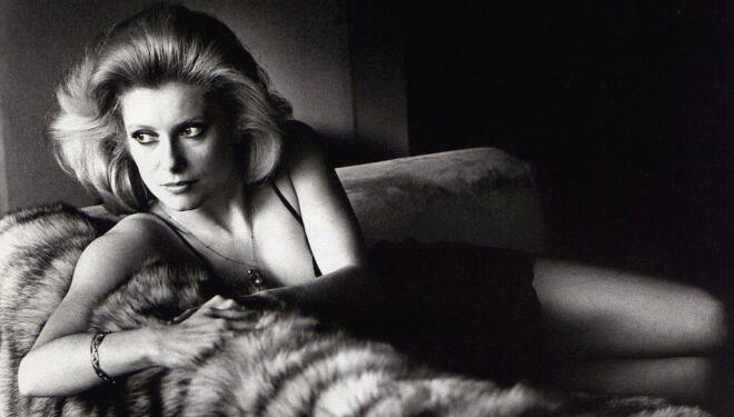 Catherine Deneuve shot by Helmut Newton in 1976