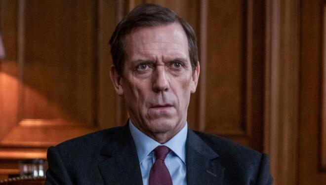 Hugh Laurie salvages this empty political drama