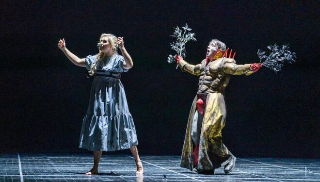 Apollo pursues Daphne in Handel's chamber opera. Photo: Tristram Kenton