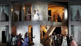 A crazed party thrown by Don Giovanni closes the first act of Mozart's opera. Photo: Mark Douet