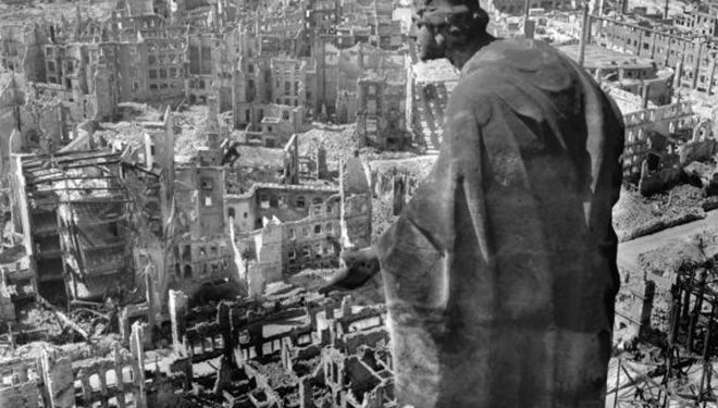 Richard Peter: Dresden After Allied Raids, 1945 World War II
