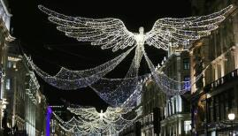 Regent Street's angels make a welcome return this festive season