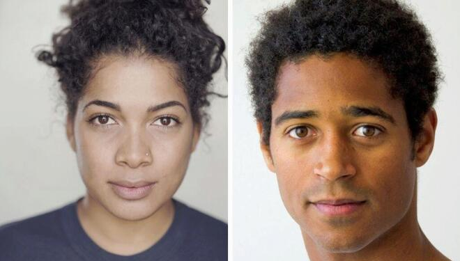 Rebecca Murrell (left) and Alfred Enoch (right) play Shakespeare's ill-fated lovers
