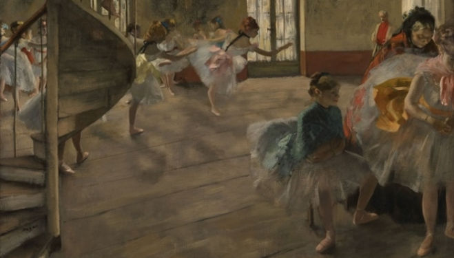 The Rehearsal by Edgar Degas (1873), Glasgow Burrell Collection