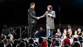 Online theatre: streaming options for staying in. Picture: David Morrissey and Ben Whishaw in the Bridge Theatre's 2018 production of Julius Ceasar