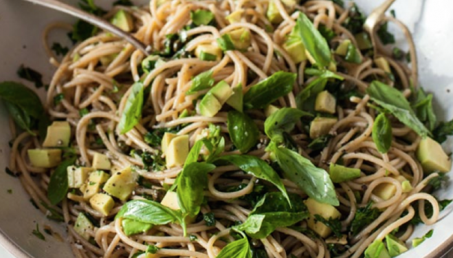 Anna Jones: Avocado and Lemon Zest Spaghetti