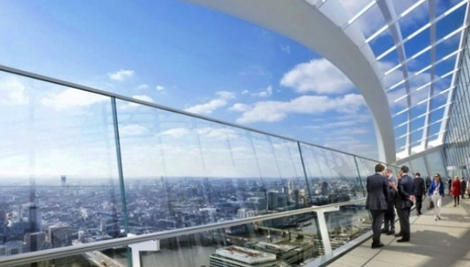 A CGI of the view from the Sky Garden. Photograph: PR