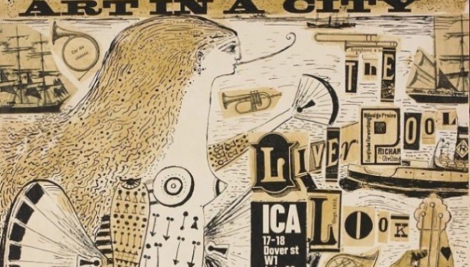 George Jardine, poster for the Art in the City exhibition at the ICA, Dover street, July 20-September 2