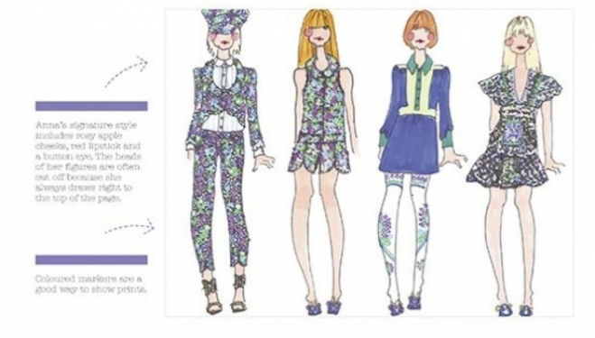 An image from How to Draw like a Fashion Designer, book