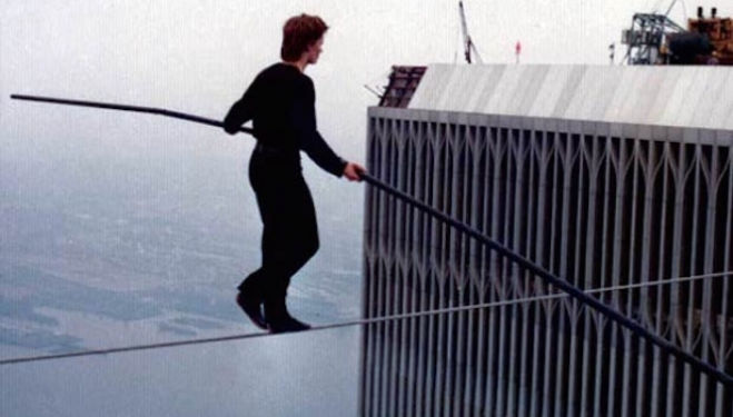 Still from Phillippe Petit's 'Man on Wire'