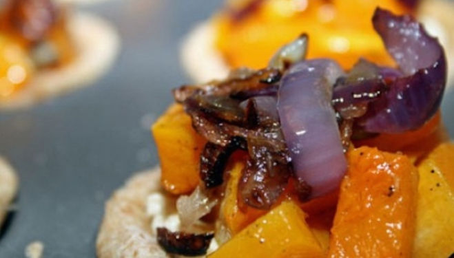 Onion and squash tart