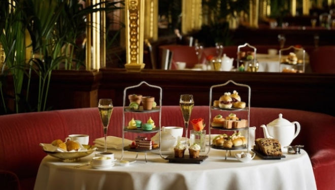Afternoon Tea spread at the Oscar Wilde Lounge