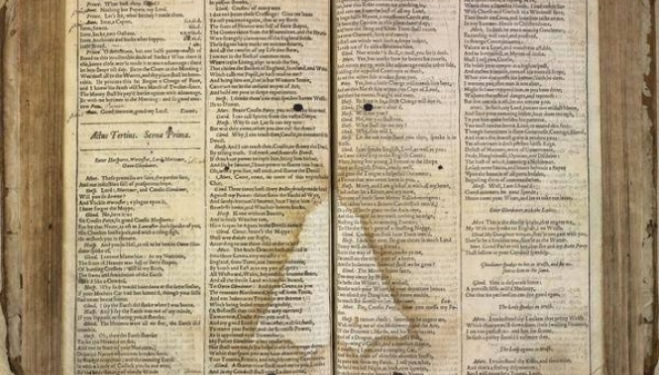 Shakespeare's First Folio returns to the Globe Theatre