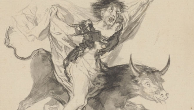 Francisco Goya (1746-1828)  Nightmare,  c. 1816-20, Brush, black and grey ink,  264 x 181 mm,  The Morgan Library and Museum, New York