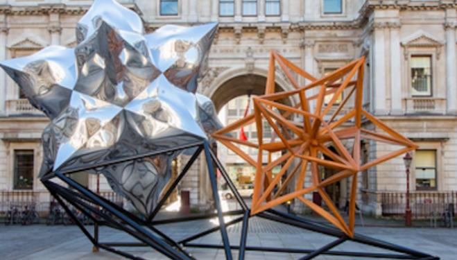 Frank Stella Hon RA, Inflated Star and Wooden Star, 2014. Photograph © Benedict Johnson.