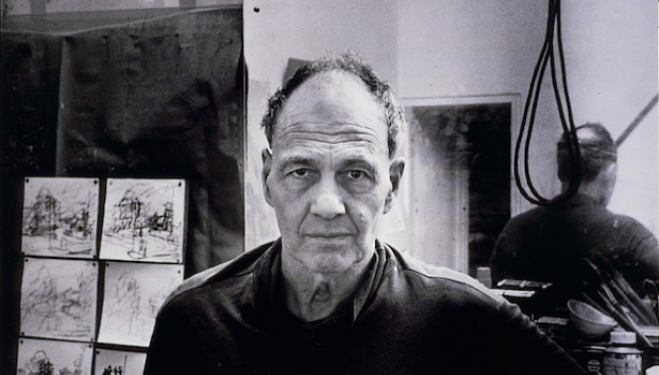 Frank Auerbach in his Studio (2000), by Bruce Bernard, © Estate of Bruce Bernard