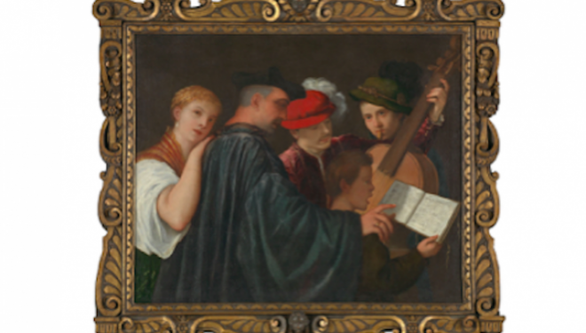 The Music Lesson Possibly by Titian about 1535, courtesy of The National Gallery, London