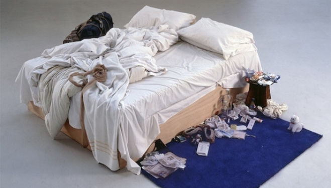 Tracey Emin My Bed 1998© Tracey Emin. All rights reserved, DACS 2014 Photo credit: Courtesy The Saatchi Gallery, London / Photograph by Prudence Cuming Associates Ltd