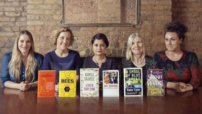 The Baileys Women's Prize for Fiction judges and the shortlisted titles.