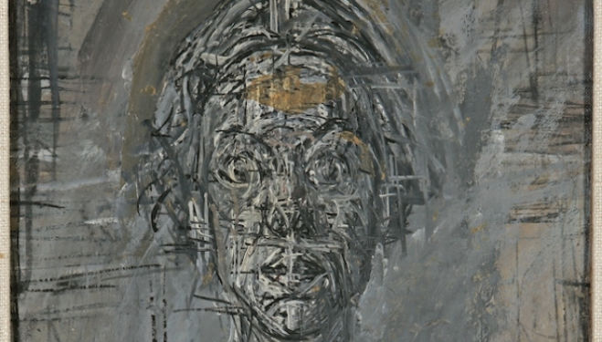 Copyright: Alberto Giacometti Estate, Bust of Annette by Alberto Giacometti, 1954 Private Collection