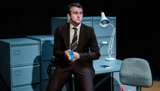 Harry Melling in The Angry Brigade, Bush Theatre