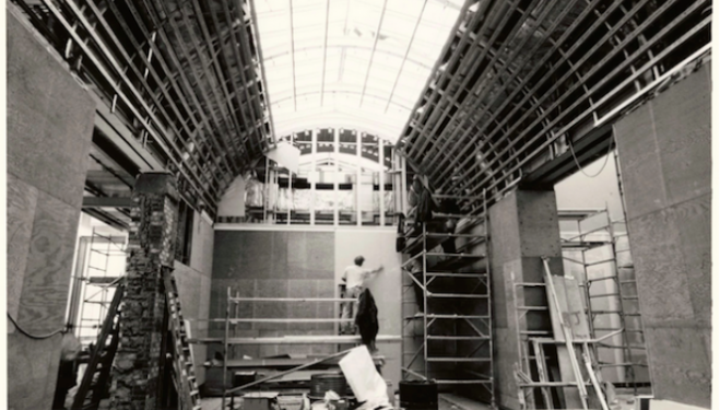 The Royal Academy Sackler Wing under construction. © Royal Academy of Arts, London.