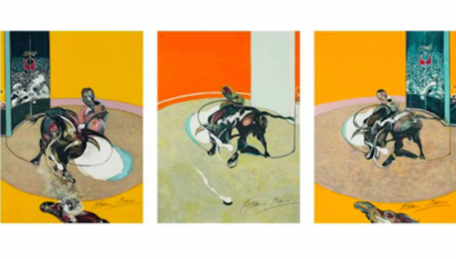Francis Bacon, artist, Miroir de la tauromachie (1990), Phillips London