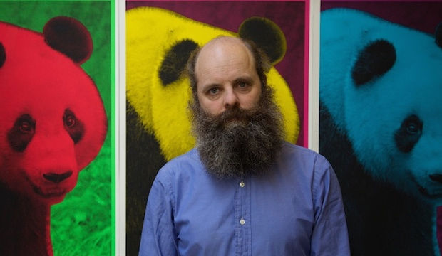 Gavin Turk, beard and all at the ICA, London