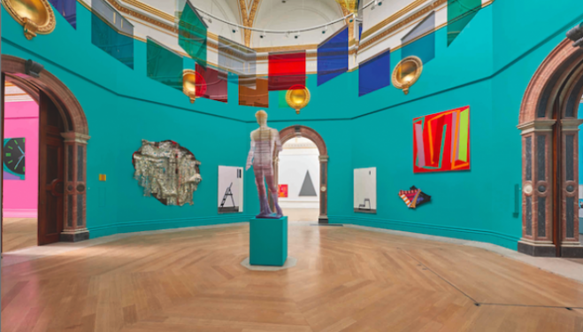 View of the Central Hall at Royal Academy London Summer Exhibition 2015, Photography John Bodkin, Dawkins Colour