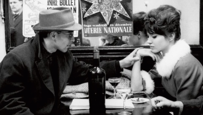 Raymond Cauchetier photography, Jean-Luc Godard and Anna Karina, Une Femme est une Femme, 1960, James Hyman Gallery photography show