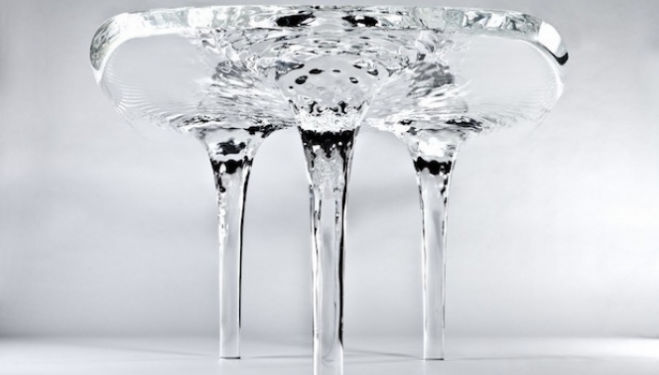 Liquid Glacial Table by Zaha Hadid for David Gill Gallery