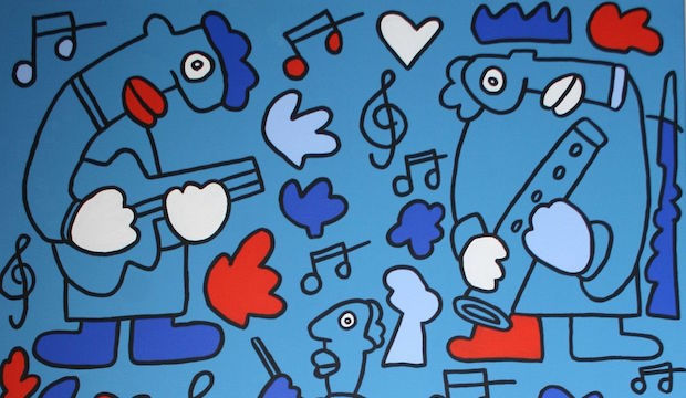 Band, 2015, Thierry Noir artist, Howard Griffin Gallery London