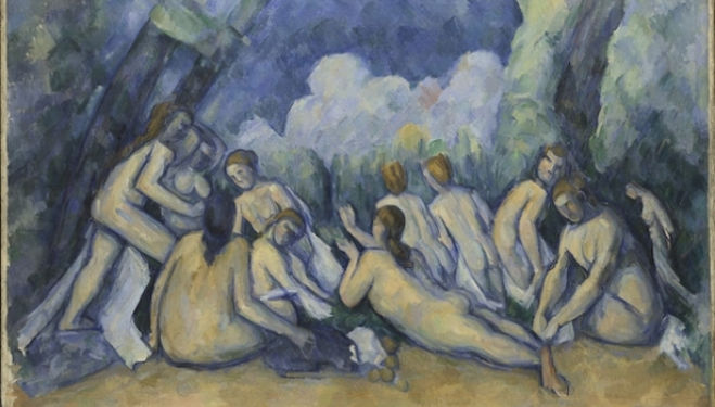 Bathers (Les Grandes Baigneuses)  Paul Cézanne about 1894-1905 © The National Gallery, London