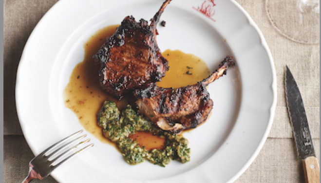 Seahorse restaurant lamb chops recipe: Grilled and marinaded