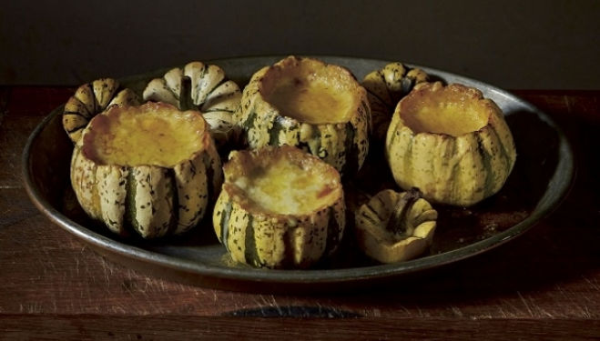 Fern Verrow Recipe: Baked Squash with Celery and Herb Cream