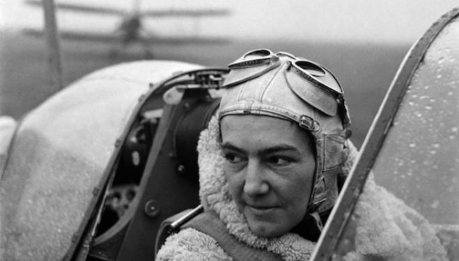 Anna Leska, Air Transport Auxilliary, Polish pilot flying a spitfire, White Waltham, Berkshire, England 1942 by Lee Miller (4327-45)  © Lee Miller Archives, England 2014