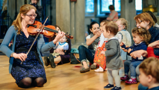Toddlers at the Royal Albert Hall, half term events