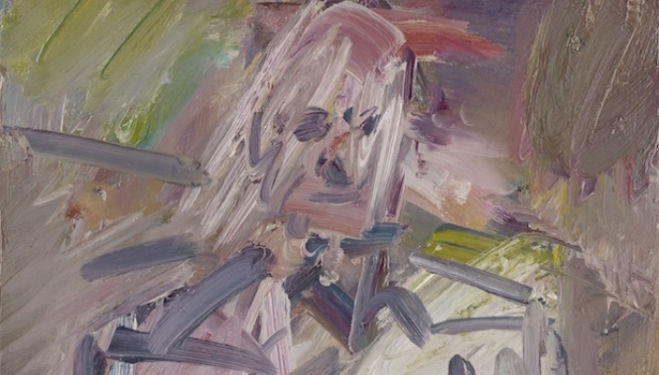 Frank Auerbach artist, David Landau Seated, courtesy of Marlborough Fine Art London