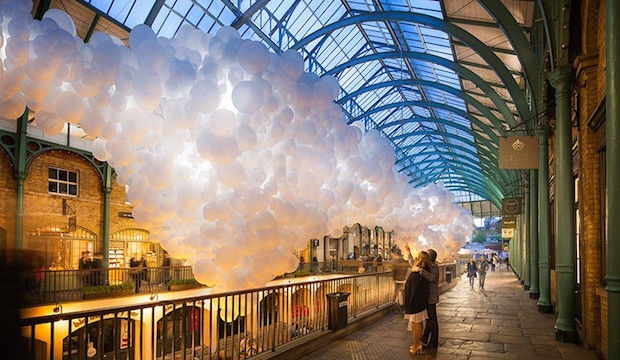 Charles Pétillon artist, art installation for Covent Garden London