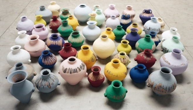 Ai Weiwei artist, Coloured Vases, 2006, Courtesy of Ai Weiwei Studio