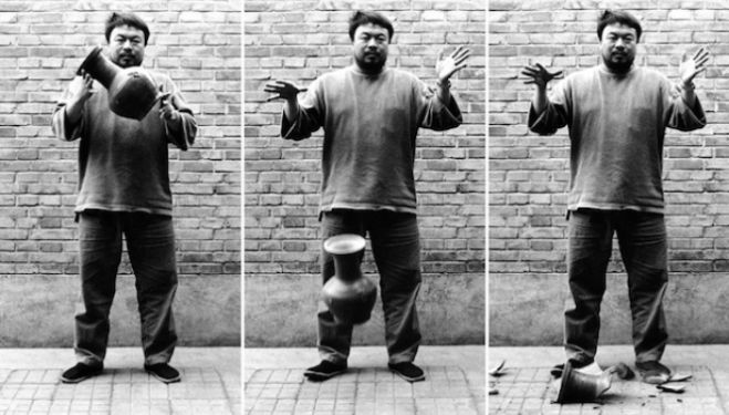 Ai Weiwei in London: iconoclastic artist dropping a Han dynasty urn