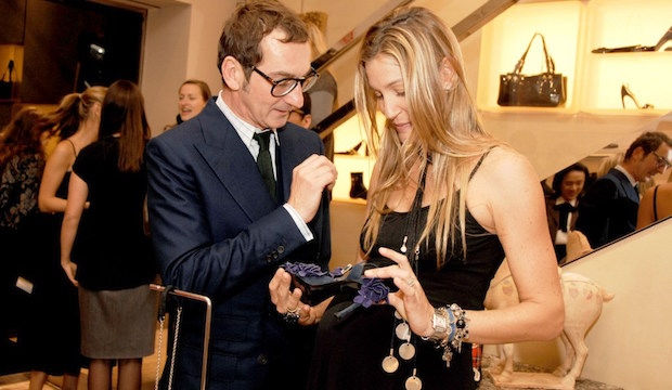 Bruno Frisoni, Creative Director of Roger Vivier with actress Marisa Brown