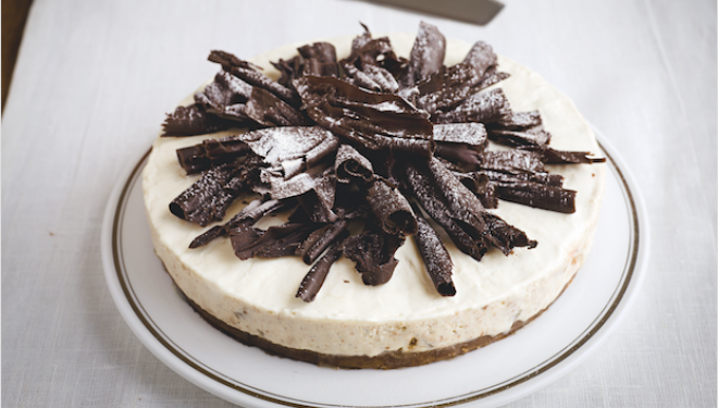 Christmas pudding idea: Pear and Amaretto Cheesecake