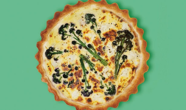 Goats Cheese & Broccoli Quiche Recipe, from cookbook 'The Only Recipes You'll Ever Need'